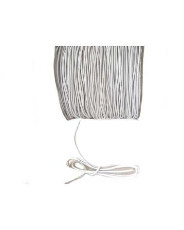 Fil élastique  gainé blanc 1mm x3M