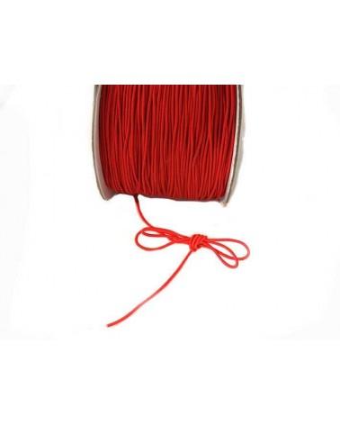 Fil élastique  gainé Rouge 1mm x3M