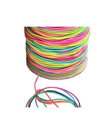 Fil élastique gainé Multicolore 1mm x3M