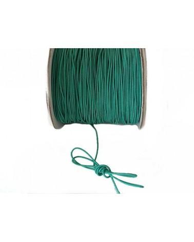Fil élastique gainé 1mm Turquoise vert X 3M
