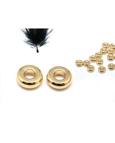 Rondelle 4x1mm doré x10