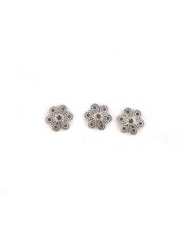 Coupelle fleur 9mm argent vielilli X 1 ou par 10