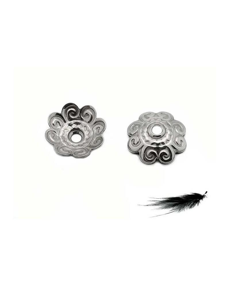 Coupelle dentelée 11mm acier inox x 6