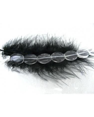 Perle-de-verre-ovale-lisse-16 x 14 x 4 mm-transparent-cristal x 10