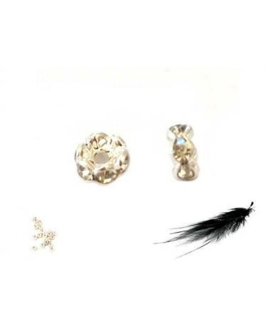 Rondelle Strass AAA 4mm crystal-Argent X1