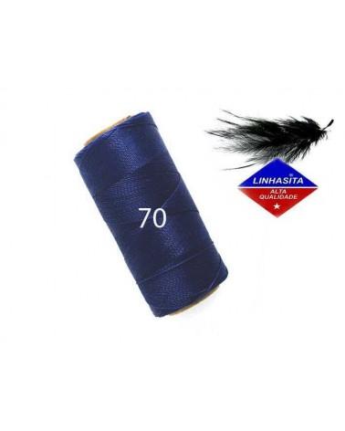 Fil ciré 0.5MM Linhasita Navy Blue (70) X 5M