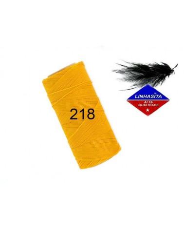 Fil ciré 0,75MM Linhasita Golden Yellow (218) X 5M