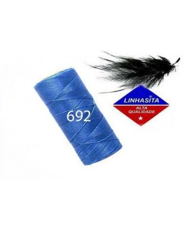 Fil ciré 0,75MM Linhasita Blue (692) x 5M