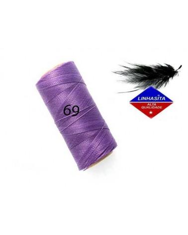 Fil ciré 0.75MM Linhasita lilac (69) X 5M