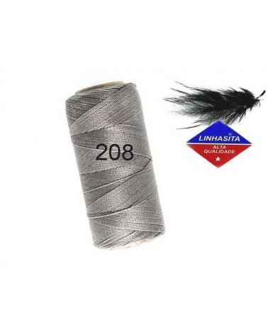 Fil ciré 0.75MM Linhasita grey(208) X 5M