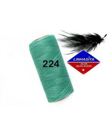 Fil ciré 0.75MM Linhasita Green Turquoise (224) X 5M