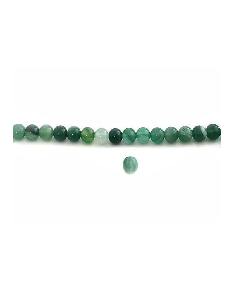 Agate lace 6mm Vert X15