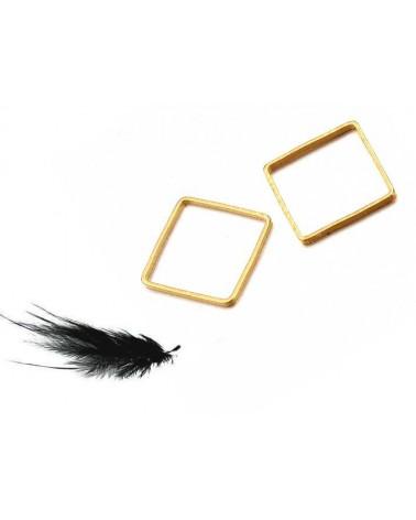 Anneau de montage carré 10x10mm doré X1