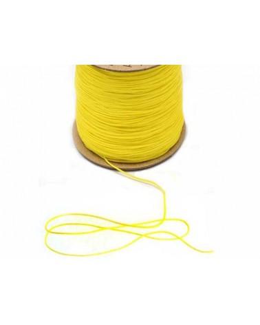 Fil nylon tressé 0,8mm Jaune citron X 3 Mètres
