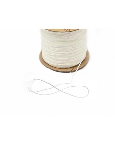 Fil nylon tressé 0,8mm Blanc x 3 Mètres