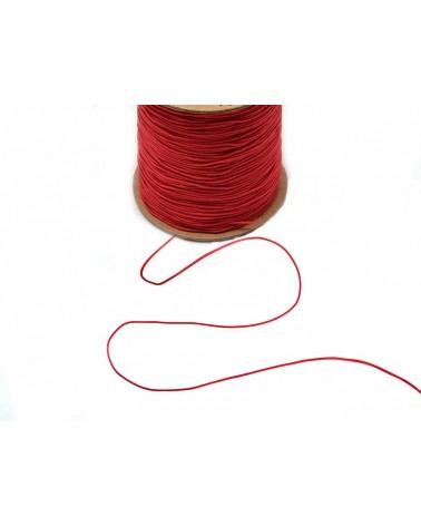 Fil nylon tressé 0,8mm Rouge vif x 3 Mètres