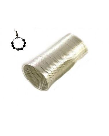 Fil mémoire 22mm Platine bague créole X 40 rangs