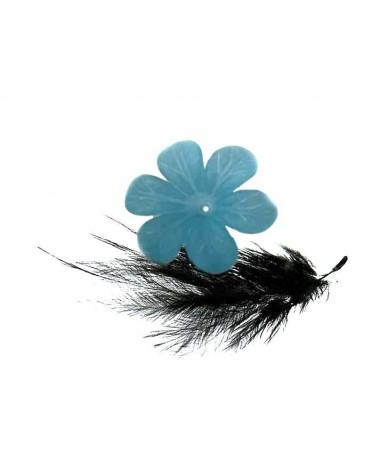 Fleur Acrylique 30mm bleu clair X 1