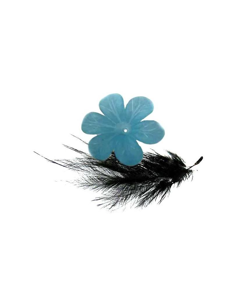Fleur Acrylique 33mm bleu clair X 1
