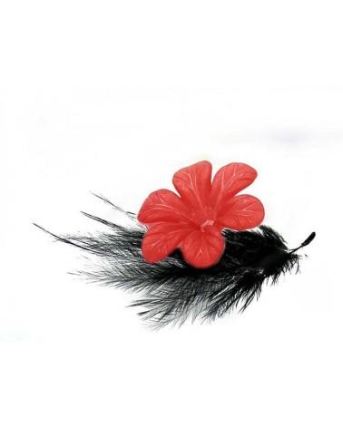 Fleur Acrylique 30mm Rouge X 1