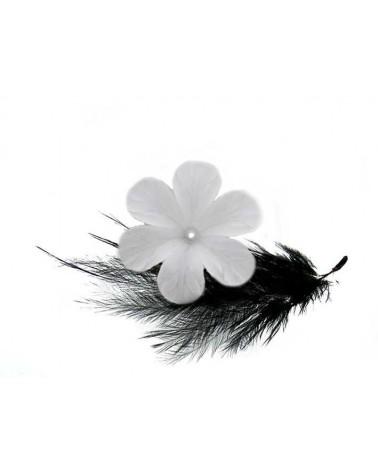 Fleur lucite 30mm Blanc dépoli X 1