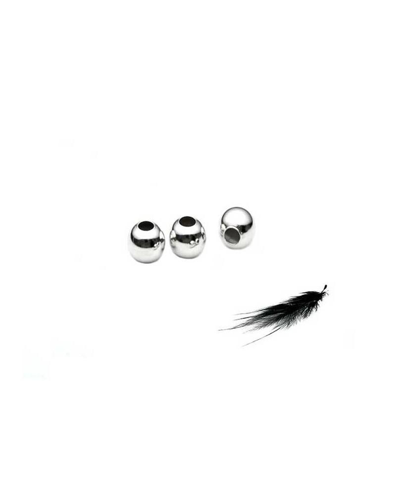 Boule 4mm argenté X10