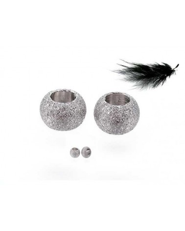 Boule granitée 4x3mm acier inox x 5
