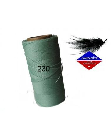 Fil ciré 0.75MM Linhasita Mint ( 230) X 5M