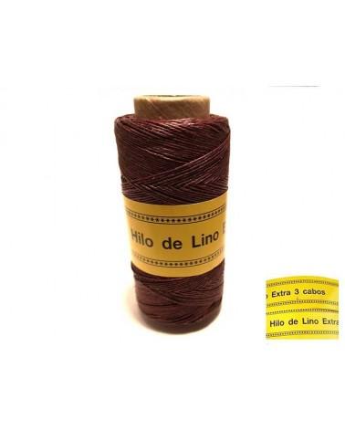 Fil de Lin ciré 0,7mm Bordeaux N°24 pour bijoux micro macramé X 5M