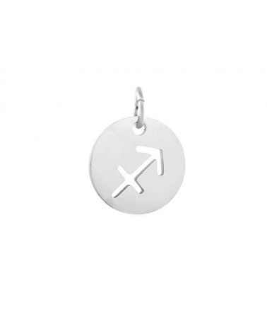 Pendentif signe du zodiaque sagittaire12mm inox X1
