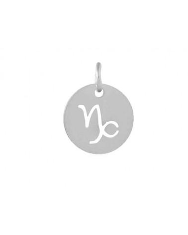 Pendentif signe du zodiaque capricorne12mm inox X1