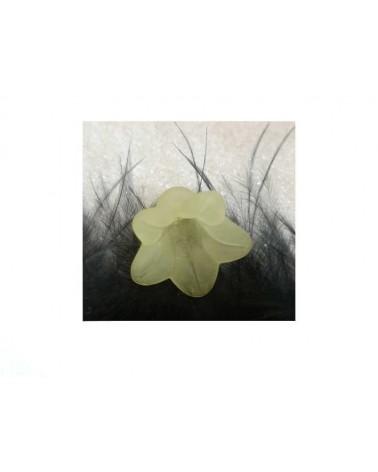 Fleur Acrylique 16X12mm jaune X 4