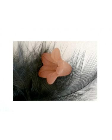 Fleur Acrylique16X12mm marron X 4
