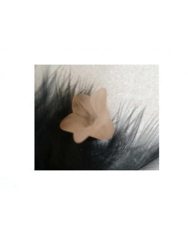 Fleur Acrylique16X12mm nude X 4