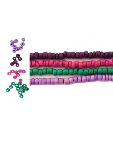 Coco perles Heishi 5mm mélange HIBISCUS x 50