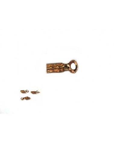 Embout Pince fil 1mm doré X6