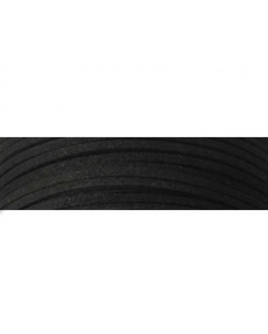 Lacet suédine 3x1,4mm Noir X1M