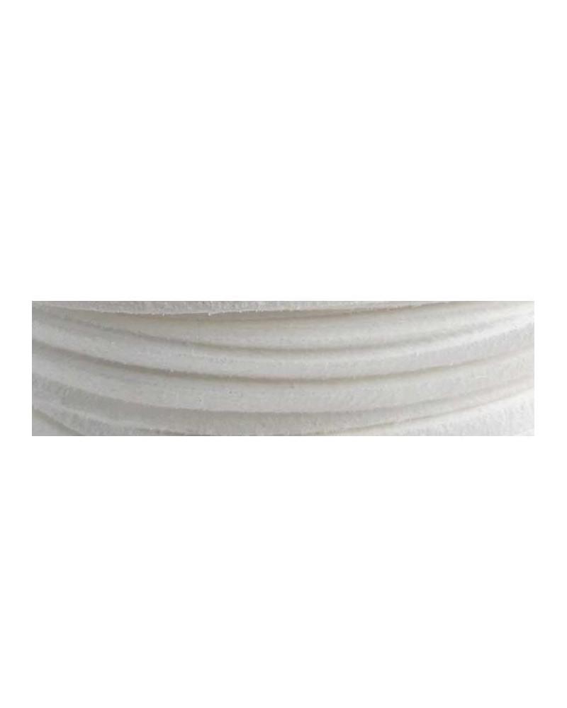 Lacet suédine 3x1,4mm Blanc X1M