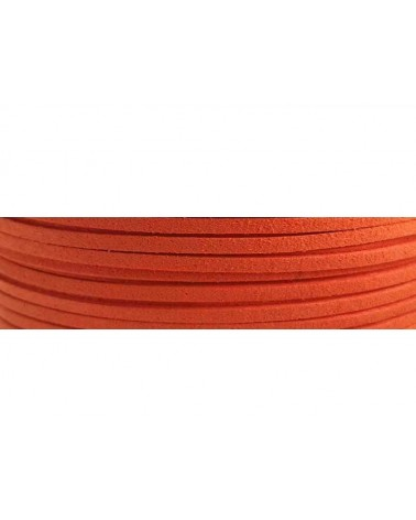 Lacet suédine 3x1,4mm Orange X1M
