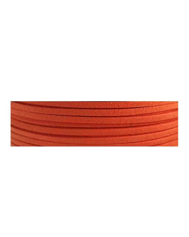 Lacet suédine 3x1,4mm Orange X1M