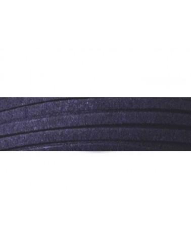 Lacet suédine 3x1,4mm Bleu Marine X1M