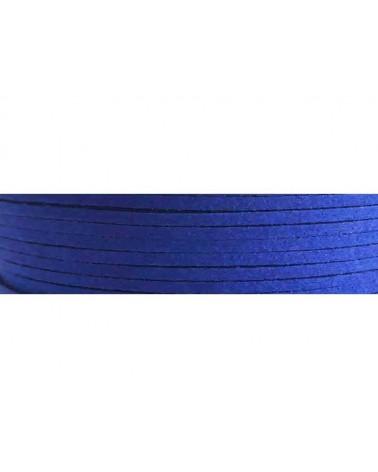 Lacet suédine 3x1,4mm Bleu outremer X1M