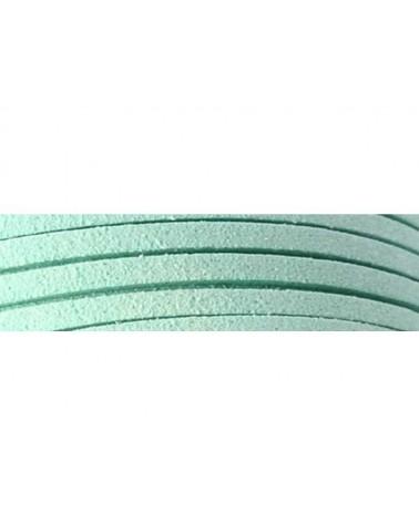 Lacet suédine 3x1,4mm Vert d'eau X1M