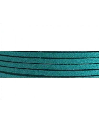 Lacet suédine 3x1,4mm Turquoise X1M