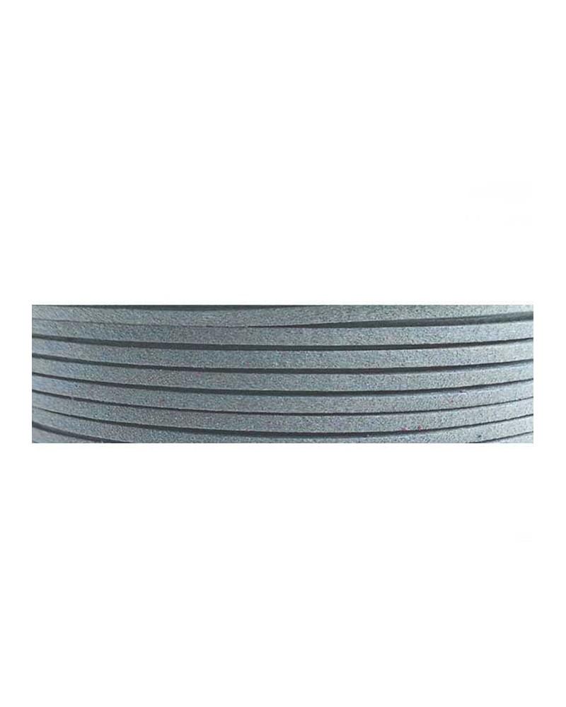 Lacet suédine 3x1,4mm Bleu clair X1M