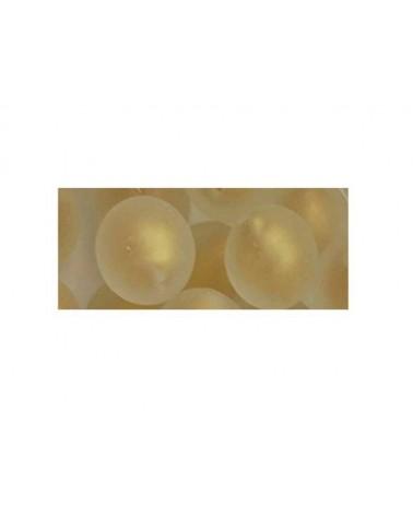 Ronde 12mm verre dépoli et feuille d'or x 1