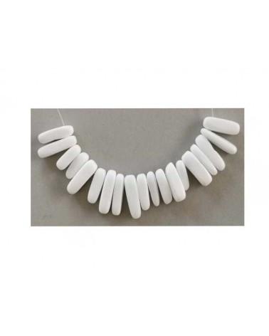 Goutte céramique 15-23mm Blanc X10