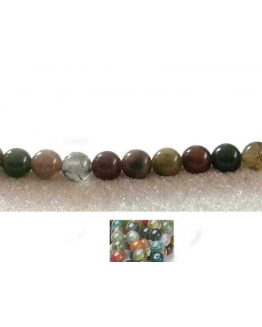 Agate indienne 5mm multicolore X 20