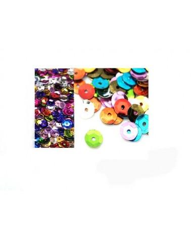 Paillettes 6-7mm mélange de couleurs X 550
