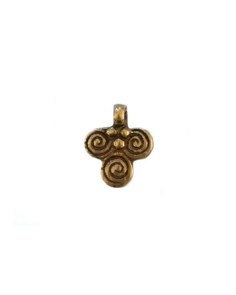 Pendentif 3 spirales bronze X1